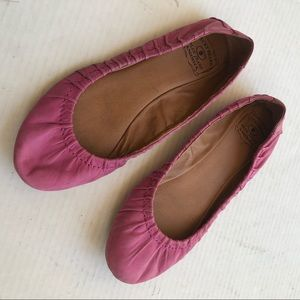 Lucky Brand pink leather flats Sz 8